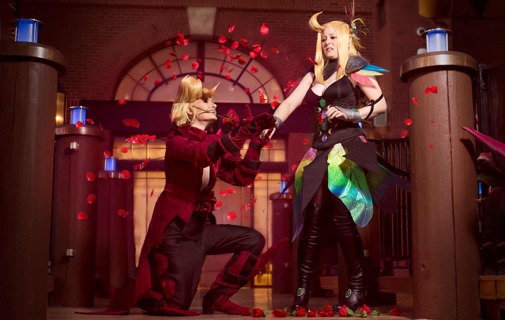 Red Mage Ringabel and Summoner Edea Bravely Default