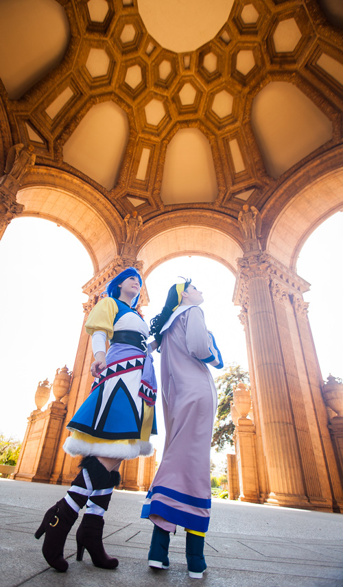 Mia Ausa and Luna - Lunar Silver Star Story Cosplay